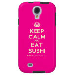 [Crown] keep calm and eat sushi  Samsung Galaxy S4 Cases
