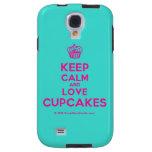 [Cupcake] keep calm and love cupcakes  Samsung Galaxy S4 Cases