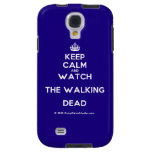 [Crown] keep calm and watch the walking dead  Samsung Galaxy S4 Cases
