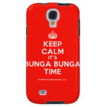 [Crown] keep calm it's bunga bunga time  Samsung Galaxy S4 Cases