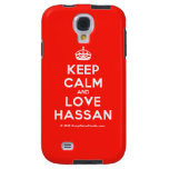 [Crown] keep calm and love hassan  Samsung Galaxy S4 Cases