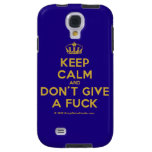 [Dancing crown] keep calm and don't give a fuck  Samsung Galaxy S4 Cases