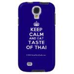 [Crown] keep calm and eat taste of thai  Samsung Galaxy S4 Cases