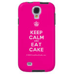 [Cupcake] keep calm and eat cake  Samsung Galaxy S4 Cases