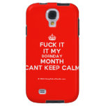 [Crown] fuck it it my bornday month cant keep calm  Samsung Galaxy S4 Cases