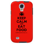 [Cutlery and plate] keep calm and eat food  Samsung Galaxy S4 Cases