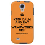 [Crown] keep calm and eat at wrapworks deli  Samsung Galaxy S4 Cases