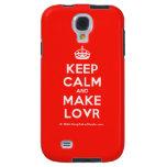 [Crown] keep calm and make lovr  Samsung Galaxy S4 Cases