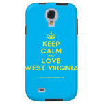 [Crown] keep calm and love west virginia  Samsung Galaxy S4 Cases