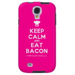 [Chef hat] keep calm and eat bacon  Samsung Galaxy S4 Cases