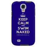 [Knitting crown] keep calm and swim naked  Samsung Galaxy S4 Cases