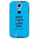 [Love heart] keep calm and love cma  Samsung Galaxy S4 Cases