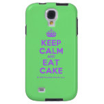 [Crown] keep calm and eat cake  Samsung Galaxy S4 Cases