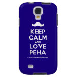 [Moustache] keep calm and love peha  Samsung Galaxy S4 Cases