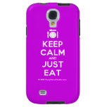 [Cutlery and plate] keep calm and just eat  Samsung Galaxy S4 Cases