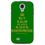 [Crown] bly kalm en wees n 100% boeremeisie  Samsung Galaxy S4 Cases