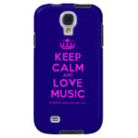 [Dancing crown] keep calm and love music  Samsung Galaxy S4 Cases