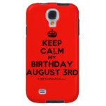 [Crown] keep calm my birthday august 3rd  Samsung Galaxy S4 Cases
