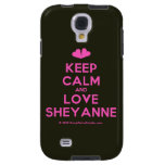 [Two hearts] keep calm and love sheyanne  Samsung Galaxy S4 Cases