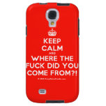 [Crown] keep calm and where the fuck did you come from?!  Samsung Galaxy S4 Cases