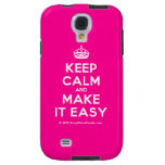 [Crown] keep calm and make it easy  Samsung Galaxy S4 Cases