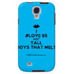 [Two hearts] i #love b5 hot tall boys that melt  Samsung Galaxy S4 Cases