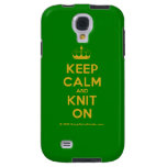[Knitting crown] keep calm and knit on  Samsung Galaxy S4 Cases