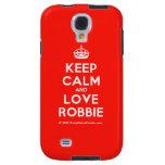 [Crown] keep calm and love robbie  Samsung Galaxy S4 Cases