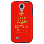 [Skull crossed bones] keep calm and love a aries  Samsung Galaxy S4 Cases