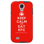 [Cutlery and plate] keep calm and eat kfc  Samsung Galaxy S4 Cases