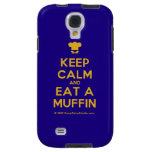 [Chef hat] keep calm and eat a muffin  Samsung Galaxy S4 Cases