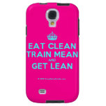 [Crown] eat clean train mean and get lean  Samsung Galaxy S4 Cases