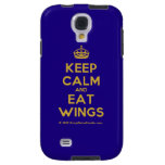 [Crown] keep calm and eat wings  Samsung Galaxy S4 Cases