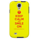 [Smile] keep calm and smile on  Samsung Galaxy S4 Cases