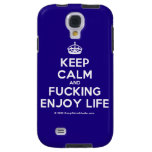 [Crown] keep calm and fucking enjoy life  Samsung Galaxy S4 Cases