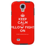 [Crown] keep calm and pillow fight on  Samsung Galaxy S4 Cases