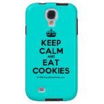 [Crown] keep calm and eat cookies  Samsung Galaxy S4 Cases