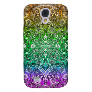 Samsung Galaxy S4 Drawing Floral Zentangle Samsung Galaxy S4 Covers