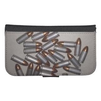 Samsung Galaxy S4 Wallet Case- Bullets