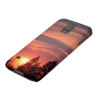 Samsung Galaxy S5 Case Pink Sunset in Montana