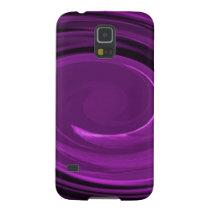 Samsung Galaxy S5 Case - purple spiral swirl
