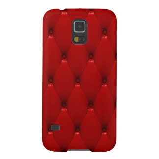 Samsung Galaxy S5 Case, Red Padded Leather