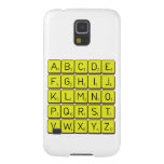 ABCDE FGHIJ KLMNO PQRST VWXYZ  Samsung Galaxy S5 Cases