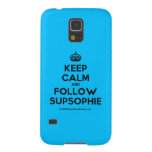 [Crown] keep calm and follow supsophie  Samsung Galaxy S5 Cases