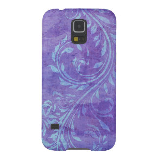 Samsung Galaxy S5 cell phone case floral swirls