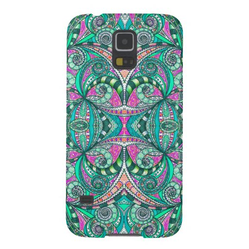 Samsung Galaxy S5 Drawing Floral Zentangle Galaxy S5 Cover