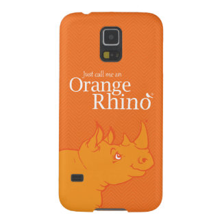 "Samsung Galaxy S5 ""Just Call me an Orange Rhino"" Cases For Galaxy S5"
