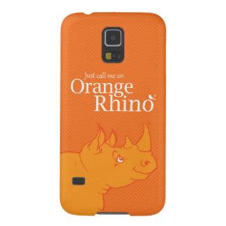 "Samsung Galaxy S5 ""Just Call me an Orange Rhino"" Galaxy S5 Case"