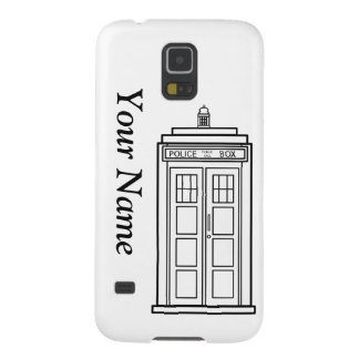 Samsung Galaxy S5 Police Box Case with your name