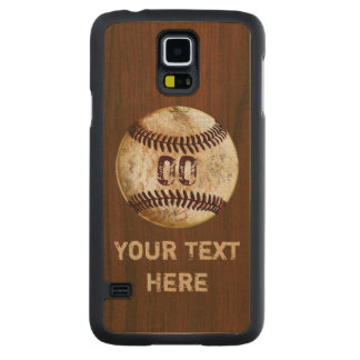 Samsung Galaxy S5 Slim Wood Baseball Phone Cases